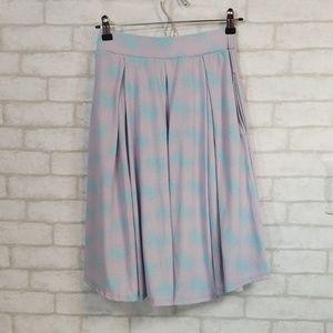 Lularoe blue/purple skirt size XS
